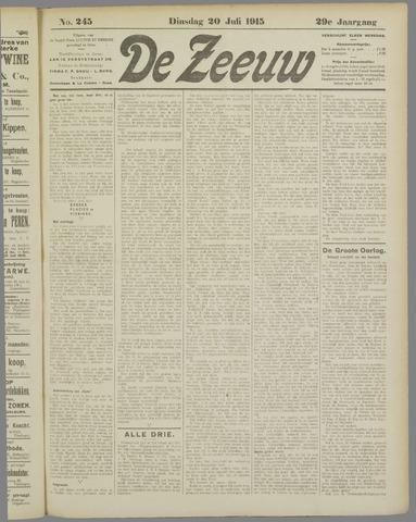 De Zeeuw. Christelijk-historisch nieuwsblad voor Zeeland 1915-07-20