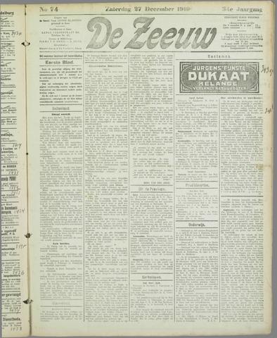 De Zeeuw. Christelijk-historisch nieuwsblad voor Zeeland 1919-12-27