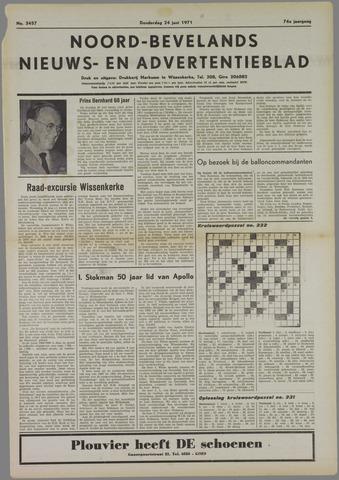 Noord-Bevelands Nieuws- en advertentieblad 1971-06-24