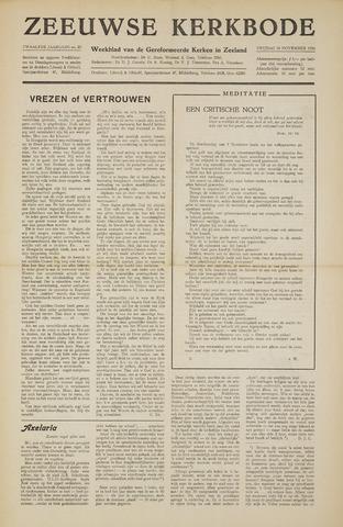 Zeeuwsche kerkbode, weekblad gewijd aan de belangen der gereformeerde kerken/ Zeeuwsch kerkblad 1956-11-16
