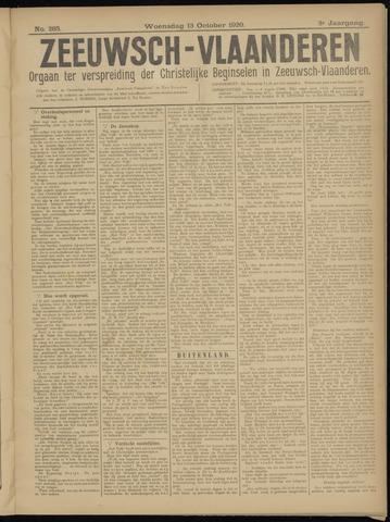 Luctor et Emergo. Antirevolutionair nieuws- en advertentieblad voor Zeeland / Zeeuwsch-Vlaanderen. Orgaan ter verspreiding van de christelijke beginselen in Zeeuwsch-Vlaanderen 1920-10-13