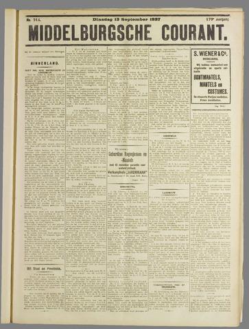 Middelburgsche Courant 1927-09-13