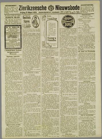 Zierikzeesche Nieuwsbode 1924-03-21