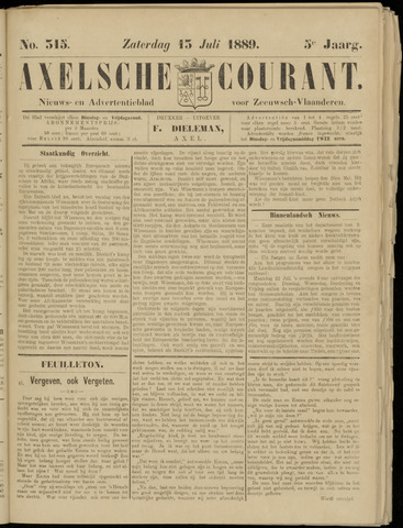 Axelsche Courant 1889-07-13