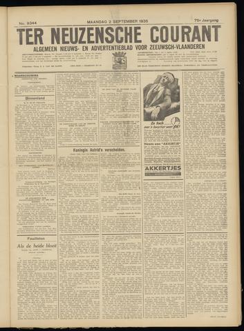 Ter Neuzensche Courant. Algemeen Nieuws- en Advertentieblad voor Zeeuwsch-Vlaanderen / Neuzensche Courant ... (idem) / (Algemeen) nieuws en advertentieblad voor Zeeuwsch-Vlaanderen 1935-09-02