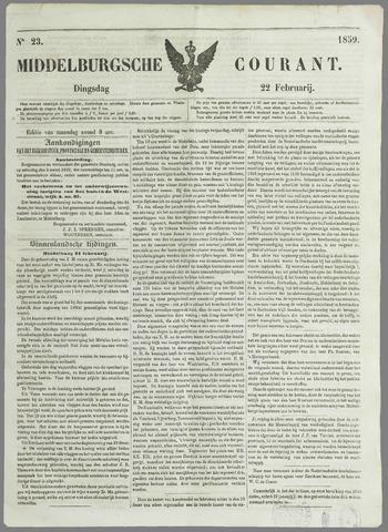 Middelburgsche Courant 1859-02-22