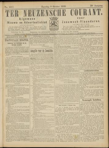 Ter Neuzensche Courant. Algemeen Nieuws- en Advertentieblad voor Zeeuwsch-Vlaanderen / Neuzensche Courant ... (idem) / (Algemeen) nieuws en advertentieblad voor Zeeuwsch-Vlaanderen 1910-10-08