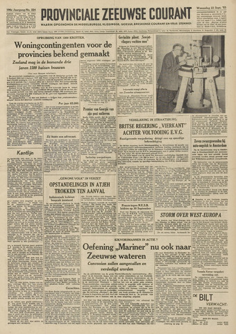 Provinciale Zeeuwse Courant 1953-09-23
