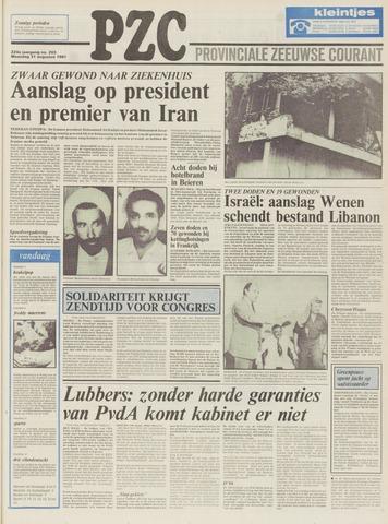Provinciale Zeeuwse Courant 1981-08-31