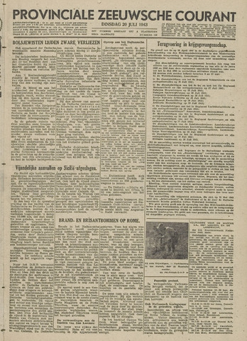 Provinciale Zeeuwse Courant 1943-07-20