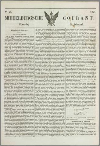 Middelburgsche Courant 1871-02-22