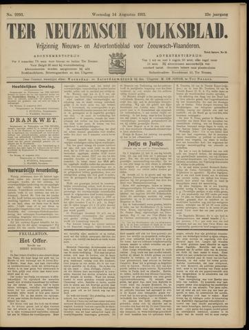 Ter Neuzensch Volksblad. Vrijzinnig nieuws- en advertentieblad voor Zeeuwsch- Vlaanderen / Zeeuwsch Nieuwsblad. Nieuws- en advertentieblad voor Zeeland 1912-08-14
