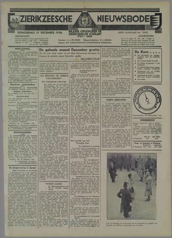 Zierikzeesche Nieuwsbode 1936-12-17