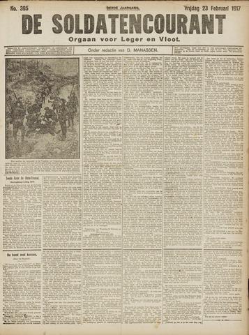 De Soldatencourant. Orgaan voor Leger en Vloot 1917-02-23