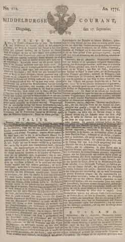 Middelburgsche Courant 1771-09-17