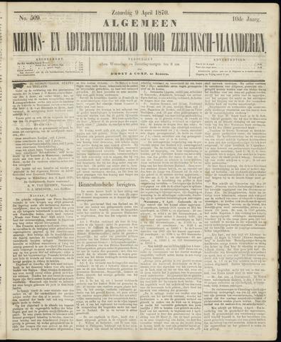 Ter Neuzensche Courant. Algemeen Nieuws- en Advertentieblad voor Zeeuwsch-Vlaanderen / Neuzensche Courant ... (idem) / (Algemeen) nieuws en advertentieblad voor Zeeuwsch-Vlaanderen 1870-04-09