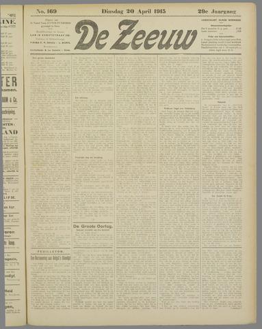 De Zeeuw. Christelijk-historisch nieuwsblad voor Zeeland 1915-04-20