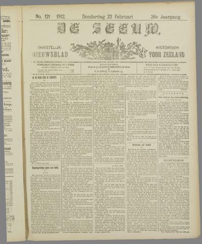 De Zeeuw. Christelijk-historisch nieuwsblad voor Zeeland 1912-02-22