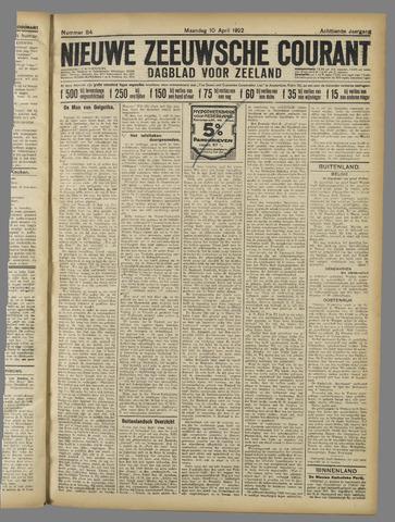 Nieuwe Zeeuwsche Courant 1922-04-10