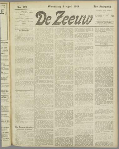 De Zeeuw. Christelijk-historisch nieuwsblad voor Zeeland 1917-04-04