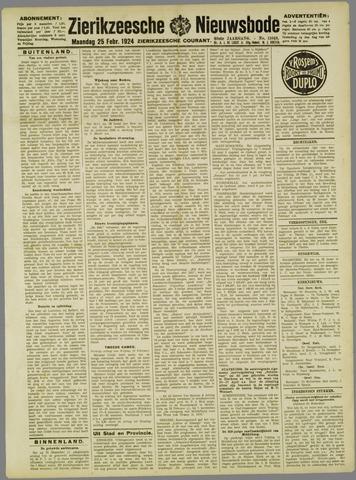 Zierikzeesche Nieuwsbode 1924-02-25