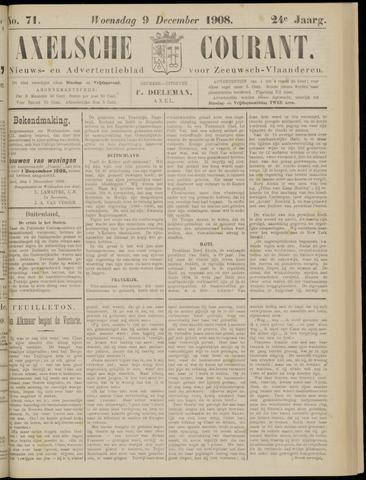 Axelsche Courant 1908-12-09