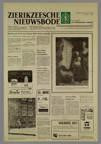 Zierikzeesche Nieuwsbode 1970-12-24