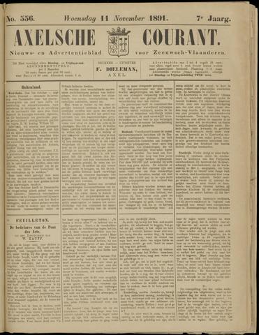 Axelsche Courant 1891-11-11