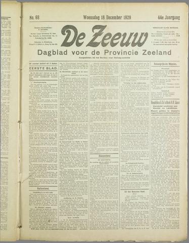 De Zeeuw. Christelijk-historisch nieuwsblad voor Zeeland 1929-12-18