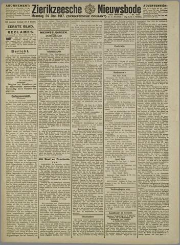 Zierikzeesche Nieuwsbode 1917-12-24