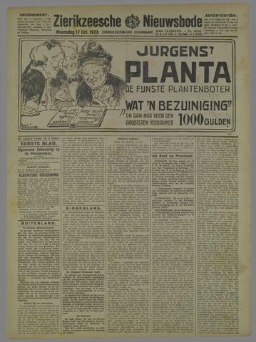 Zierikzeesche Nieuwsbode 1923-10-17