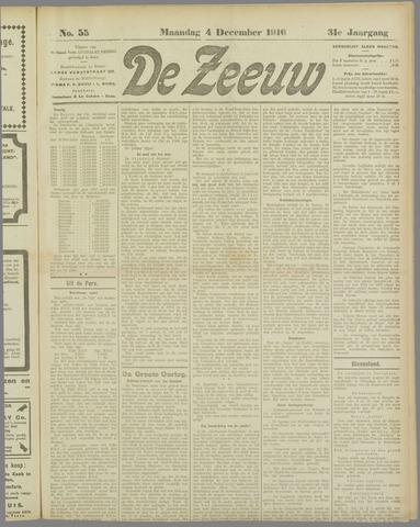 De Zeeuw. Christelijk-historisch nieuwsblad voor Zeeland 1916-12-04