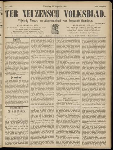 Ter Neuzensch Volksblad. Vrijzinnig nieuws- en advertentieblad voor Zeeuwsch- Vlaanderen / Zeeuwsch Nieuwsblad. Nieuws- en advertentieblad voor Zeeland 1911-08-30