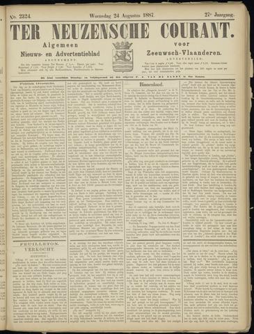 Ter Neuzensche Courant. Algemeen Nieuws- en Advertentieblad voor Zeeuwsch-Vlaanderen / Neuzensche Courant ... (idem) / (Algemeen) nieuws en advertentieblad voor Zeeuwsch-Vlaanderen 1887-08-24