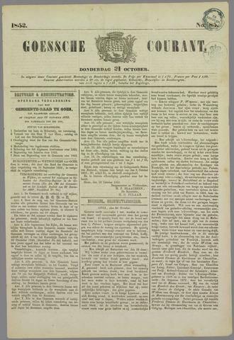 Goessche Courant 1852-10-21