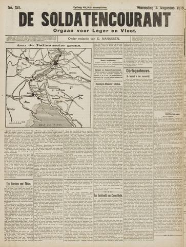 De Soldatencourant. Orgaan voor Leger en Vloot 1915-08-04
