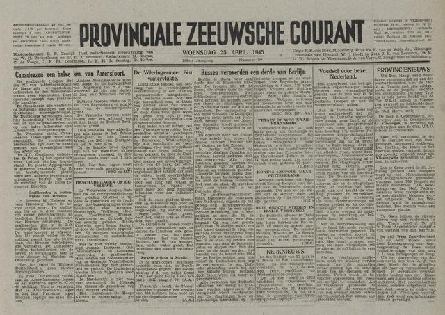 Provinciale Zeeuwse Courant 1945-04-25