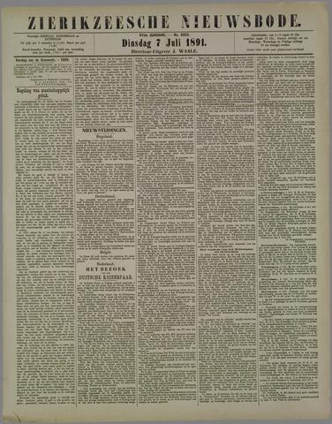 Zierikzeesche Nieuwsbode 1891-07-07