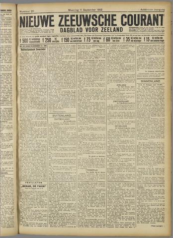 Nieuwe Zeeuwsche Courant 1922-09-11