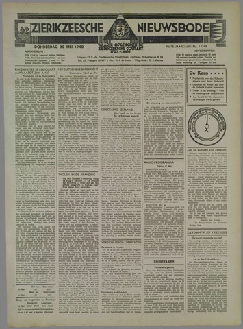 Zierikzeesche Nieuwsbode 1940-05-30