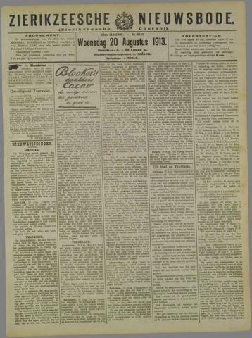 Zierikzeesche Nieuwsbode 1913-08-20