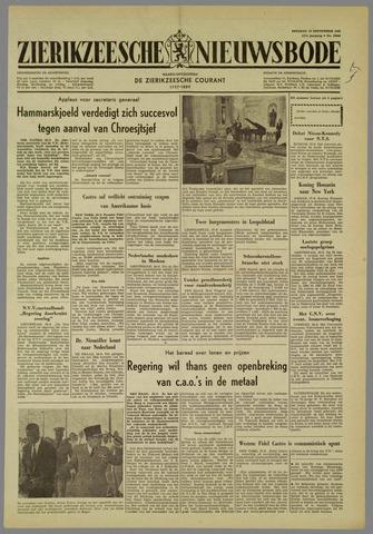 Zierikzeesche Nieuwsbode 1960-09-27