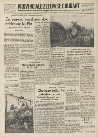 Provinciale Zeeuwse Courant 1954-10-14