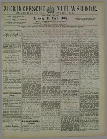 Zierikzeesche Nieuwsbode 1903-04-11