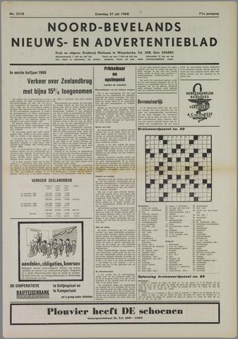 Noord-Bevelands Nieuws- en advertentieblad 1968-07-27