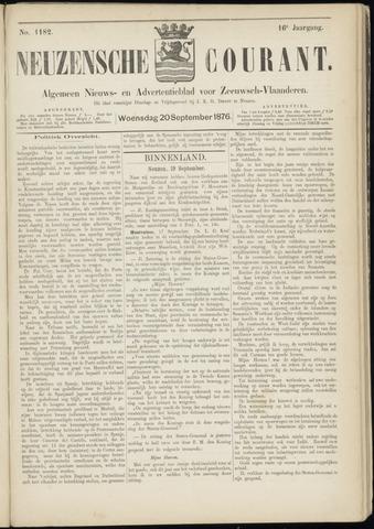 Ter Neuzensche Courant. Algemeen Nieuws- en Advertentieblad voor Zeeuwsch-Vlaanderen / Neuzensche Courant ... (idem) / (Algemeen) nieuws en advertentieblad voor Zeeuwsch-Vlaanderen 1876-09-20