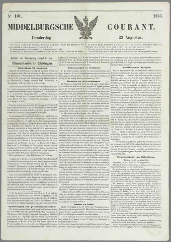Middelburgsche Courant 1855-08-23