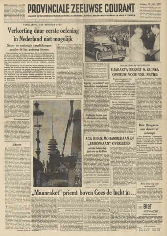 Provinciale Zeeuwse Courant 1957-07-12
