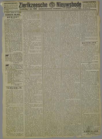 Zierikzeesche Nieuwsbode 1920