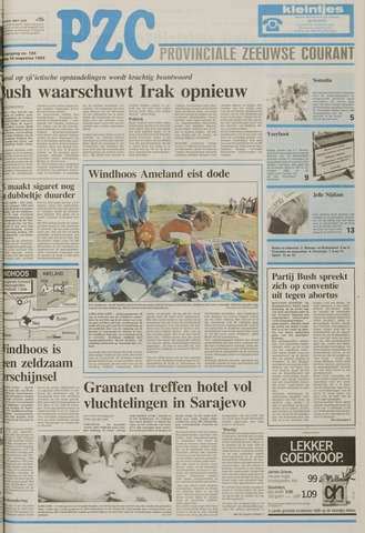 Provinciale Zeeuwse Courant 1992-08-18